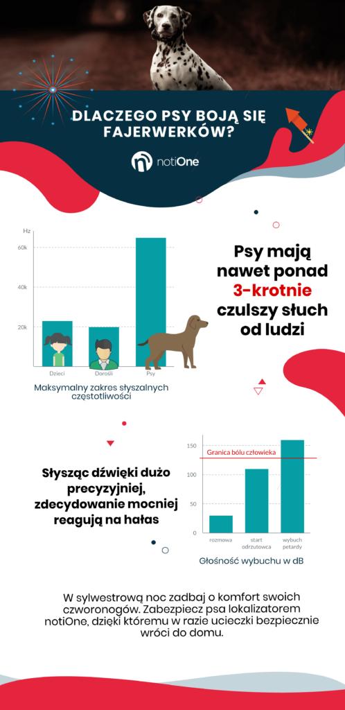Infografika - dlaczego psy boją się w Sylwestra?